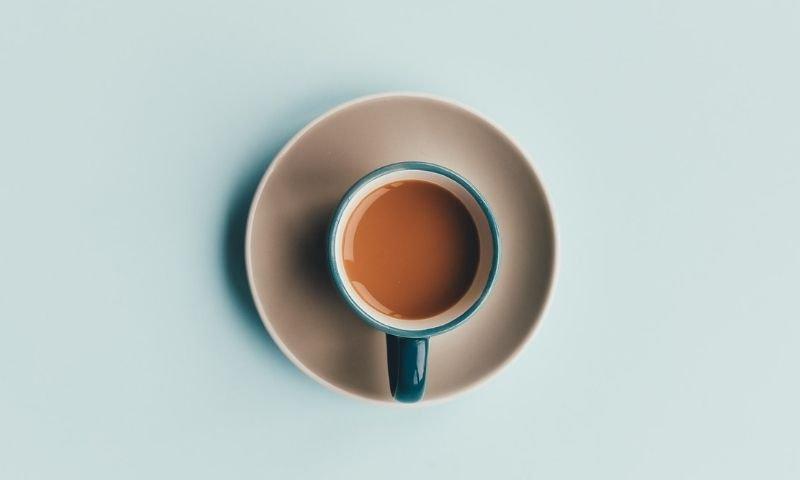 taza de café desayuno