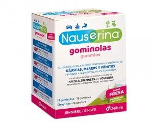Nauserina, gominolas de fresa contra mareos y náuseas