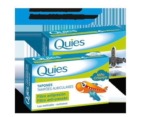 Pack tapones de oído con filtro antipresión Quies